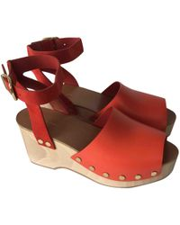 Céline - Pre-owned Leather Mules & Clogs - Lyst