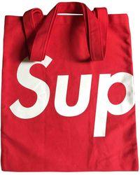 Supreme - Red Cloth Bag - Lyst