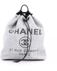 Chanel - Cloth Backpack - Lyst