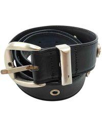 Versace - Black Leather Belts - Lyst