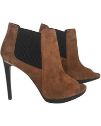 362a2caba4c Burberry Suede Ankle Boots - Camel in Natural - Lyst