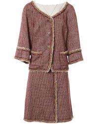 Chanel - Tweed Skirt Suit - Lyst