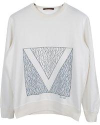 Louis Vuitton - Pre-owned White Cotton Knitwear & Sweatshirt - Lyst