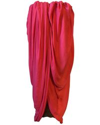 Lanvin - Pink Polyester Dress - Lyst