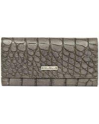 Max Mara - Grey Leather Wallets - Lyst