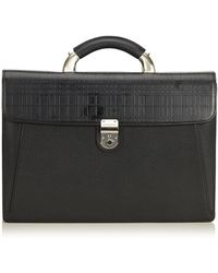 Burberry - Pre-owned Black Leather Handbags - Lyst
