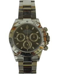 Rolex - Pre-owned Daytona Silver Steel Watches - Lyst