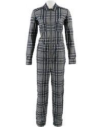 b7bee7fb40b2 Ganni - Blue Cotton Jumpsuits - Lyst
