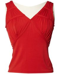 Dior - Pre-owned Red Synthetic Tops - Lyst