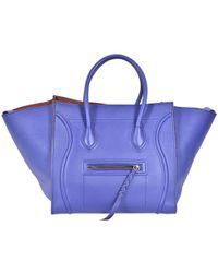 e90ddb21d4 Céline Phantom Bag Medium Wool Orange in Orange - Lyst