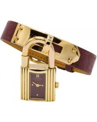 Hermès - Vintage Kelly Gold Gold Plated Watches - Lyst
