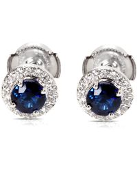 Tiffany & Co. - Pre-owned Blue Platinum Earrings - Lyst