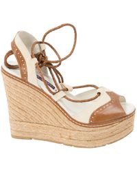 Ralph Lauren Collection - Brown Leather Sandals - Lyst