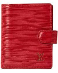 Louis Vuitton - Red Leather - Lyst