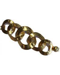 Louis Vuitton - Gold Metal Bracelet - Lyst