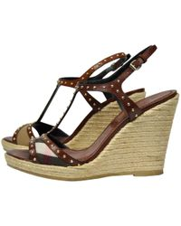 Burberry - Pre-owned Leather Sandals - Lyst
