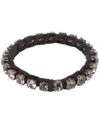 Lanvin - Silver Metal Bracelet - Lyst
