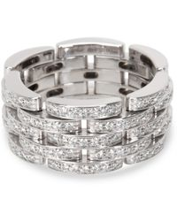 Cartier - Pre-owned Maillon Panthère Other White Gold Rings - Lyst