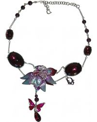 Dior - Pre-owned Purple Metal Necklaces - Lyst