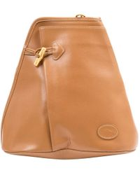 Longchamp - Leather Hand Bag - Lyst