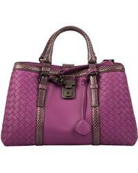 Bottega Veneta - Roma Purple Exotic Leather Handbag - Lyst