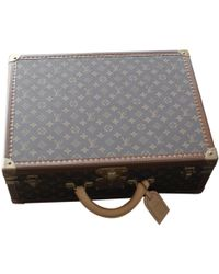 Louis Vuitton - Pre-owned Brown Cloth Travel Bags - Lyst