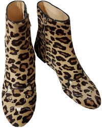 Charlotte Olympia - Pony-style Calfskin Ankle Boots - Lyst