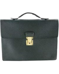Louis Vuitton - Vintage Green Leather Handbag - Lyst
