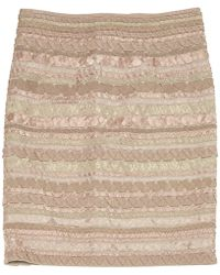 Hervé Léger - Pre-owned Pink Synthetic Skirts - Lyst