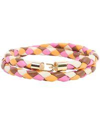 Missoni Multicolour Leather Belt - Pink