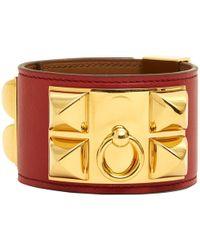 Hermès - Collier De Chien Orange Leather - Lyst