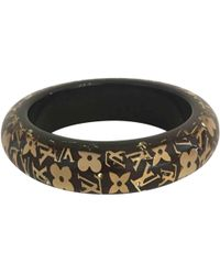 Louis Vuitton - Pre-owned Brown Plastic Bracelet - Lyst