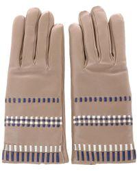 3fbaee9ab0e7a Prada Handschuhe in Braun - Lyst