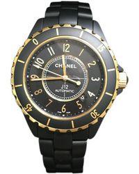Chanel - Black J12 Automatic Watch\n - Lyst