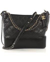 Chanel - Gabrielle Black Leather - Lyst
