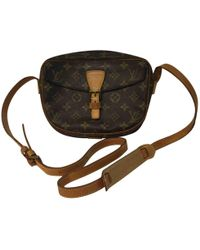 54d24de7203c Louis Vuitton Pre-owned Cloth Crossbody Bag in Brown - Lyst