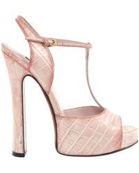 Louis Vuitton - Leather Sandals - Lyst