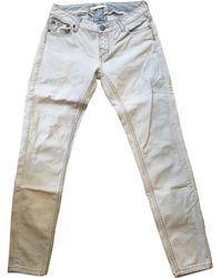 Maje - Blue Cotton - Elasthane Jeans - Lyst