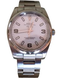 Rolex - Air King Silver Steel Watches - Lyst