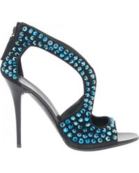 Giuseppe Zanotti - Pre-owned Black Suede Sandals - Lyst