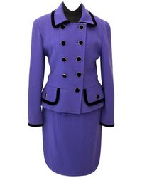 Chanel - Pre-owned Wool Suit Jacket - Lyst