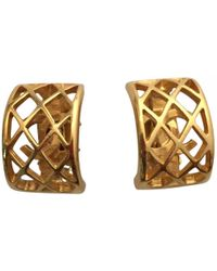 Chanel - Gold Gold Plated Earrings - Lyst