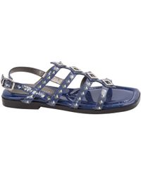 Marc By Marc Jacobs - Blue Patent Leather Sandals - Lyst
