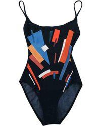 8963349c6d286 Chanel - Pre-owned Vintage Black Lycra Swimwear - Lyst