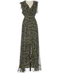 L'Agence - Silk Maxi Dress - Lyst