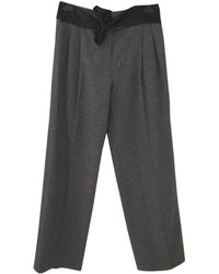Lanvin - Pre-owned Wool Large Pants - Lyst