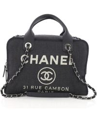 Chanel - Deauville Bowling Bag - Lyst