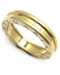 BVLGARI - Pre-owned B.zero1 Gold Yellow Gold Rings - Lyst