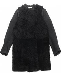 Céline - Pre-owned Black Leather Coat - Lyst