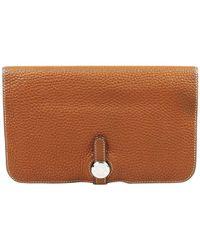 Hermès - Dogon Leather Wallet - Lyst